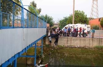 Adana'da sulama kanalında akıntıya kapılan Turgay'ın cansız bedenine ulaşıldı