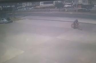 Samsun'da kaza anı kameralara böyle yansıdı