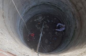 15 metrelik kuyudan kurtarıldı
