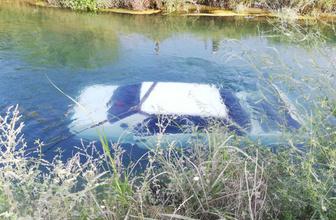 Çalınan otomobil sulama kanalında bulundu