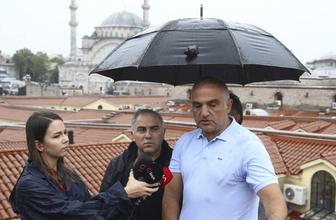 Bakan Ersoy su basan Kapalıçarşı'nın çatısında konuştu: İyi de bir test geçirmiş oldu