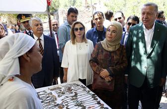 Cumhurbaşkanı Erdoğan Stratonikeia Antik Kenti'ni ziyaret etti