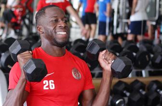 Antalyaspor oyuncuları fitnees salonunda ter döktü