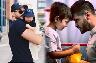 Tolgahan Sayışman'ın 3,5 aylık oğlu babasıyla beraber rol aldı oyuncu oldu