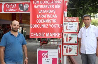 Antalya'da bir hayırsever bakkal borçlarını ödedi