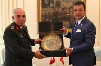 1'nci Ordu Komutanı Musa Avsever Ekrem İmamoğlu'nu makamında ziyaret etti