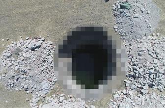 Eskişehir'de ürküten görüntü! 17 metre derinliğinde etrafını taşlarla çevirdiler