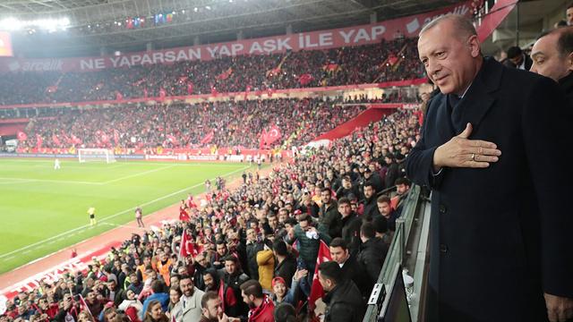 Cumhurbaşkanı Erdoğan Türkiye-Moldova maçında
