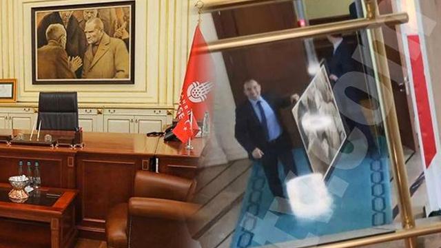 İmamoğlu'nun mazbatası alındıktan sonra indirilmişti! İşte o Atatürk tablosunun akıbeti