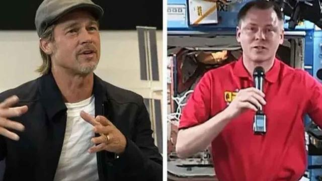 Ünlü aktör Brad Pitt uzaydaki astronot ile röportaj yaptı.