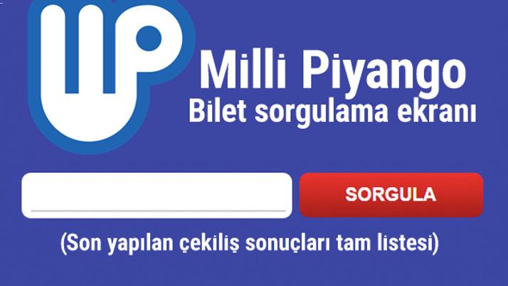 Milli Piyango (Bilet Sorgula) sıralı tam liste amortiler