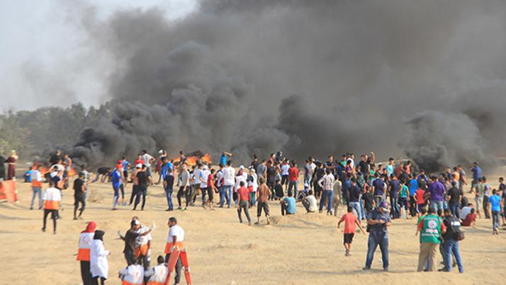 İsrail askerleri Gazze'de 1 Filistinliyi şehit etti