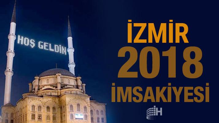 İzmir İmsakiye 2018 Diyanet sahur imsak vakti iftar saatleri