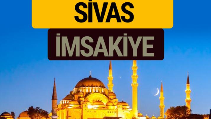 Sivas İmsakiye 2018 iftar sahur imsak vakti ezan saati