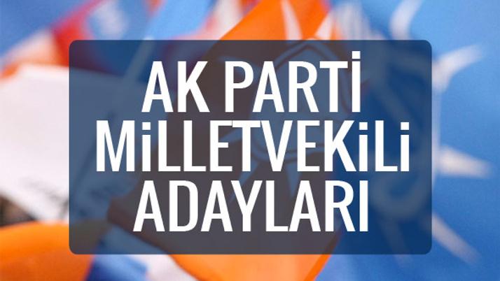 AK Parti milletvekili adayları 2018 listesi