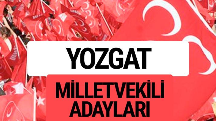 MHP Yozgat milletvekili adayları 2018 YSK kesin listesi