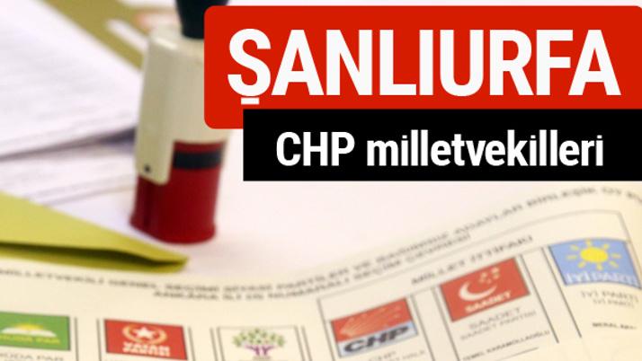 CHP Şanlıurfa Milletvekilleri 2018 - 27. dönem Şanlıurfa listesi