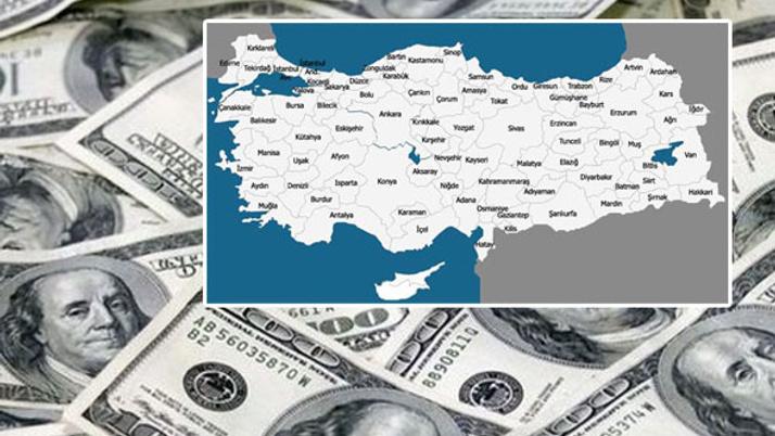 İşte Türkiye'nin dolar haritası rekor bakın hangi ilde