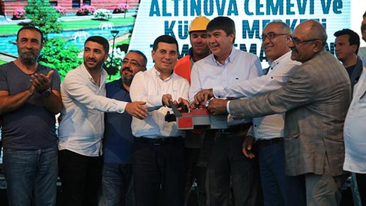 Altınova Cemevi'nin temeli atıldı