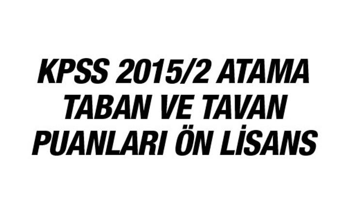 KPSS tercih sonuçları ön lisans atama taban puanları