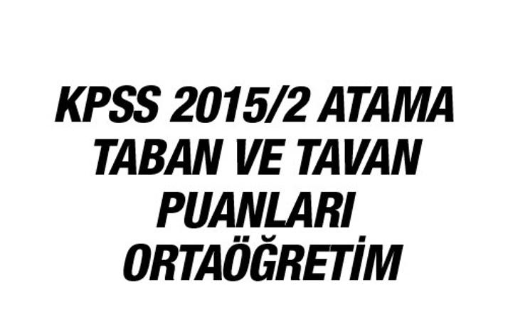 KPSS tercih sonuçları orta öğretim atama taban puanları
