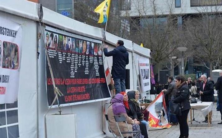 Brüksel saldırısından sonra PKK çadırı kalktı!