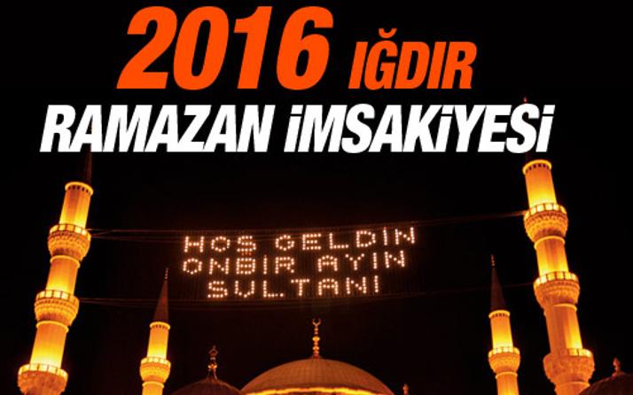 Iğdır iftar vakti sahur saatleri İmsakiye 2016