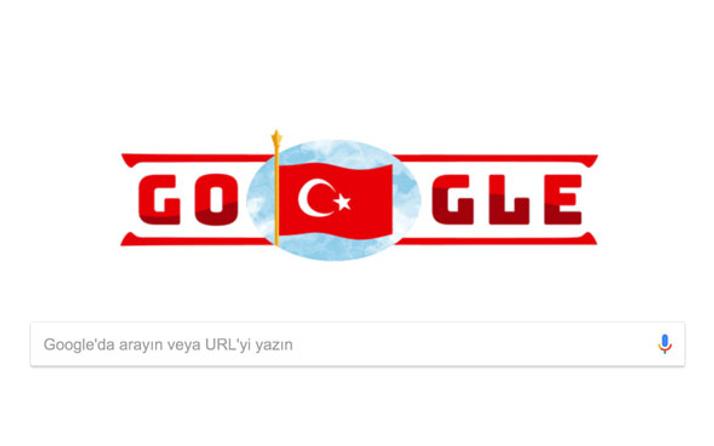 Google da 29 Ekim Cumhuriyet Bayramı'nı kutluyor...