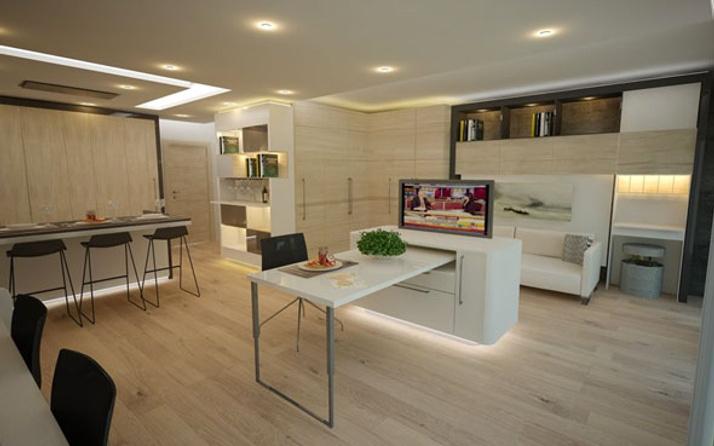 40 metrekarelik evi 74 metrekareye çıkartan sistem Türkiye'de