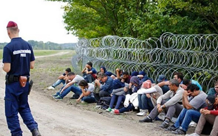 Macaristan'a yasa dışı yollardan sığınmacı girişi