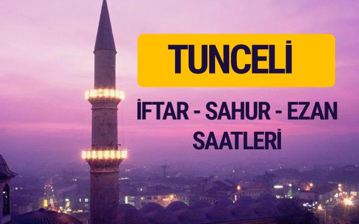 Tunceli iftar saati imsak vakti ve ezan saatleri