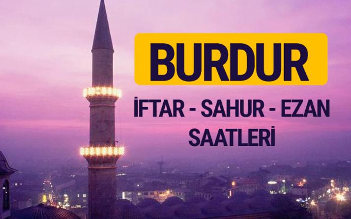 Burdur iftar saati imsak vakti ve ezan saatleri