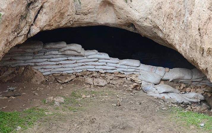Siirt'te PKK mağarasında LCD televizyon