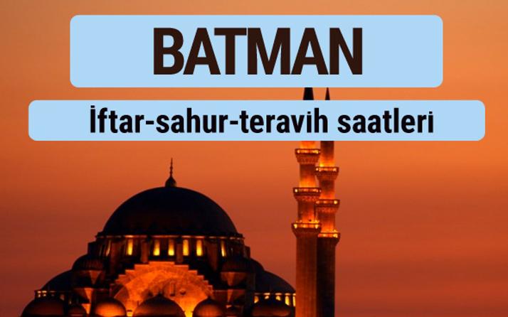 Batman iftar ve sahur vakti ile teravih saatleri