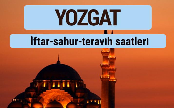 Yozgat iftar ve sahur vakti ile teravih saatleri