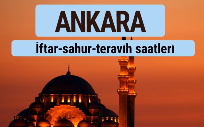 Ankara iftar ve sahur vakti ile teravih saatleri