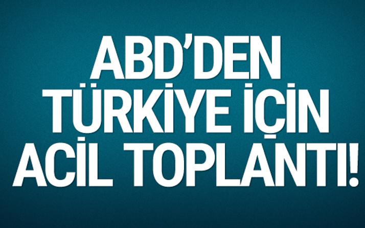 ABD'de senatörler Türkiye için acil toplandı!