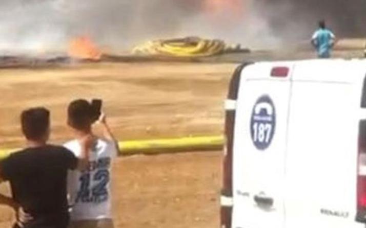 Çocuklar oynadıkları doğalgaz borularını yaktı