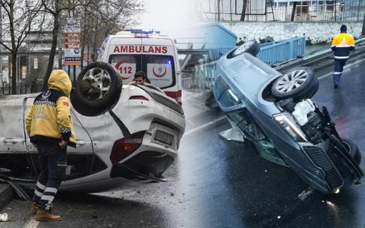 İstanbul'da araçlar yolda duramadı