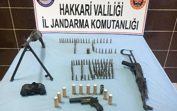 Hakkari'de PKK cephaneliği ele geçirildi