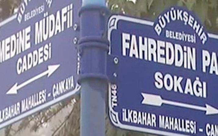 """Başkan dediğini yaptı! Sokağın adı artık """"Fahreddin Paşa Sokağı"""""""