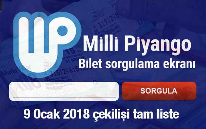 Milli Piyango tam liste 9 Ocak 2018 çekilişi sorgulama