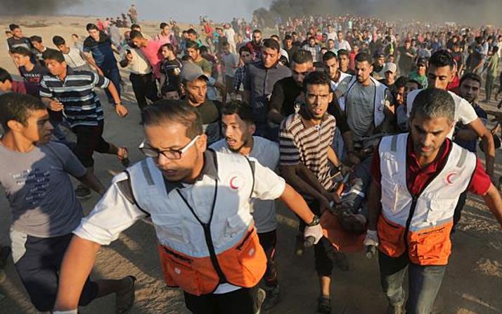 Gazze'deki barışçıl gösterilerde 6 Filistinli şehit oldu