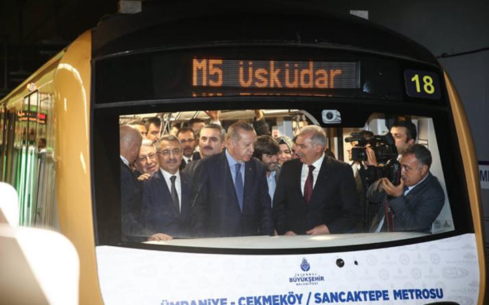 Üsküdar Çekmeköy metro hattı ilk günde 170 bin 612 yolcu taşıdı