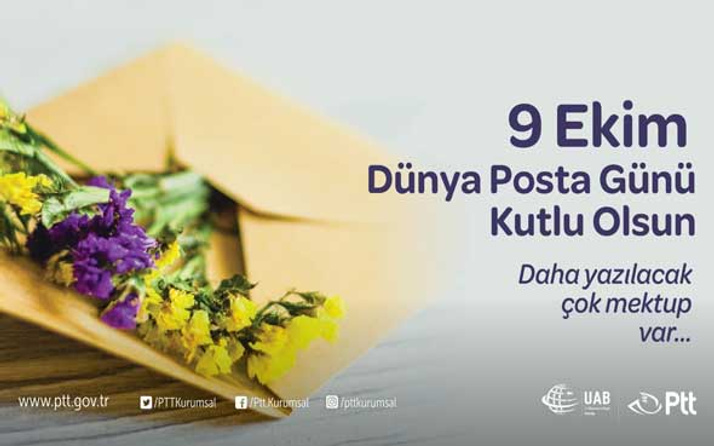 9 Ekim 'Dünya Posta Günü' Kutlanıyor