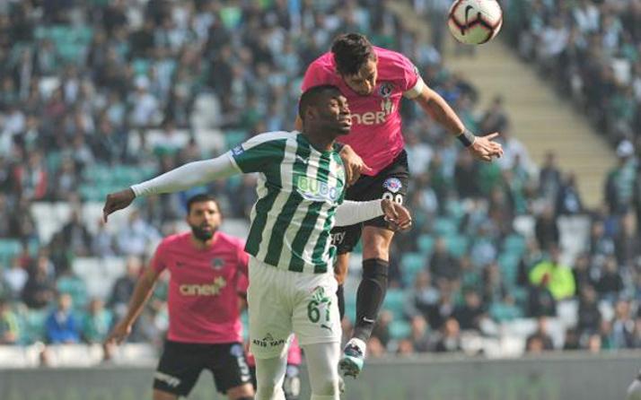 Bursaspor sahasında ilk kez yenildi