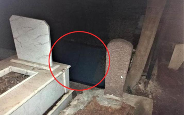 Hırsızlar mezarlığı kendilerine zula yaptılar