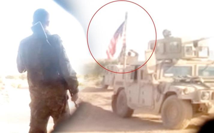 ABD askeri Münbiç'te PKK ile nöbet tutarken görüntülendi