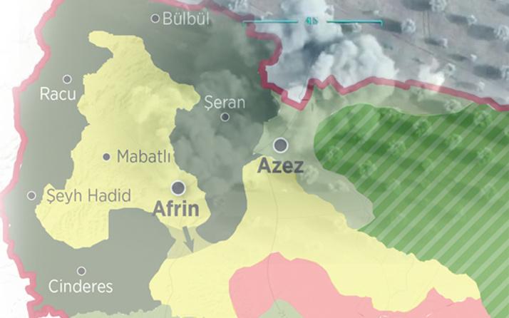Afrin'de son durum ne? Siviller de PKK'lılar da kaçıyor...