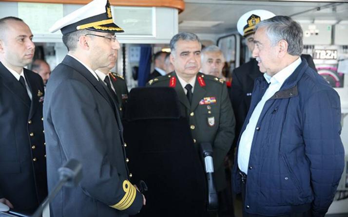 KKTC Cumhurbaşkanı Akıncı'dan TCG Büyükada'ya ziyaret